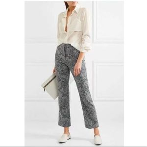 Erdem Valary Floral Jacquard Crop Trousers Pants ✨